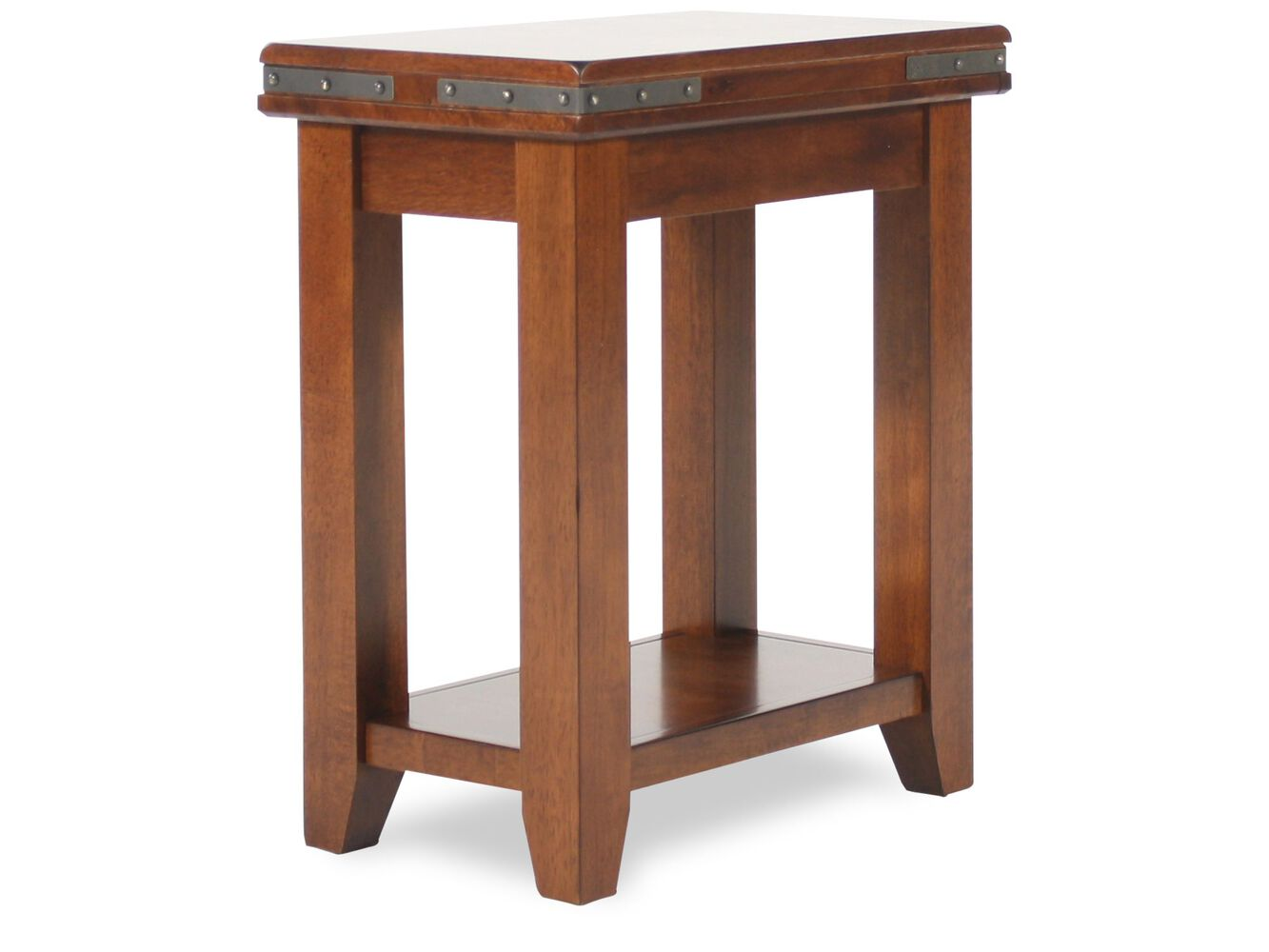 Round Small Traditional End Table In Warm Brown Mathis