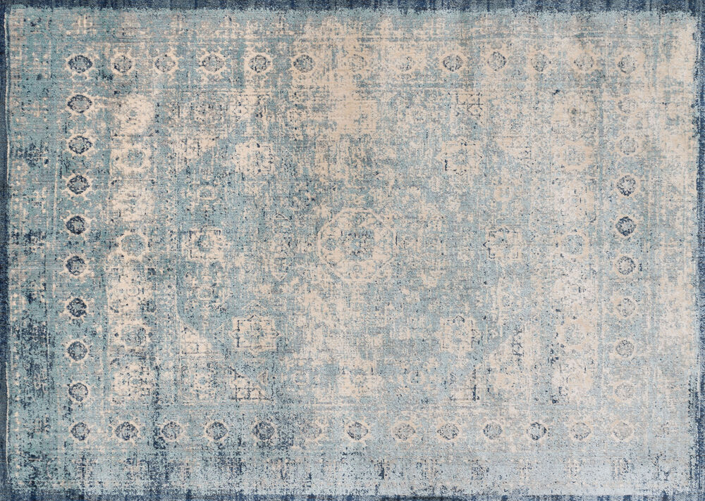 Loloi Anastasia Power Loomed Rug in Light Blue/Ivory