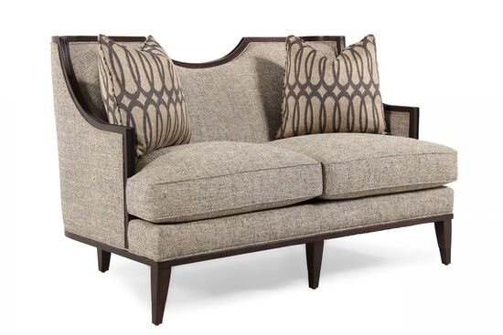 "Contemporary 56"" Loveseat in Light Gray"