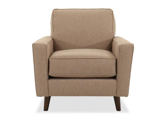 "Modern 33.5"" Arm Chair in Brown"