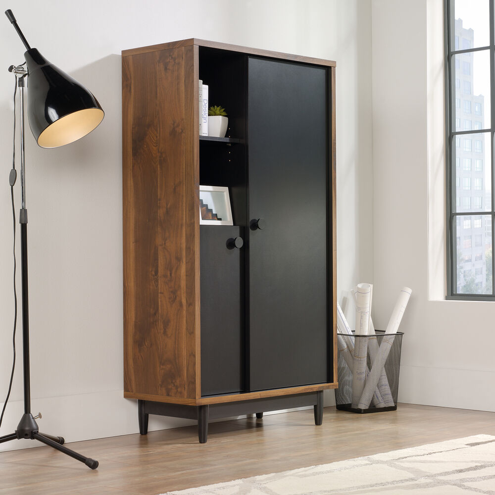 Living Room Cabinet Furniture: 60'' Two-Door Casual Storage Cabinet In Walnut