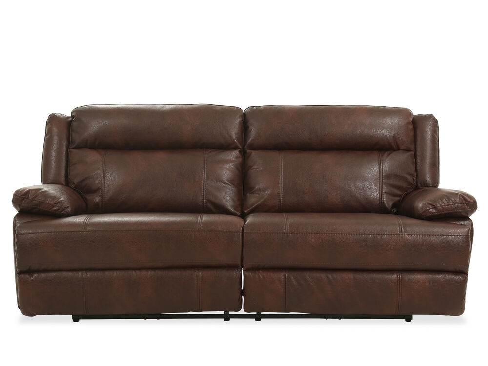 90 power reclining sofa in brown mathis brothers furniture. Black Bedroom Furniture Sets. Home Design Ideas