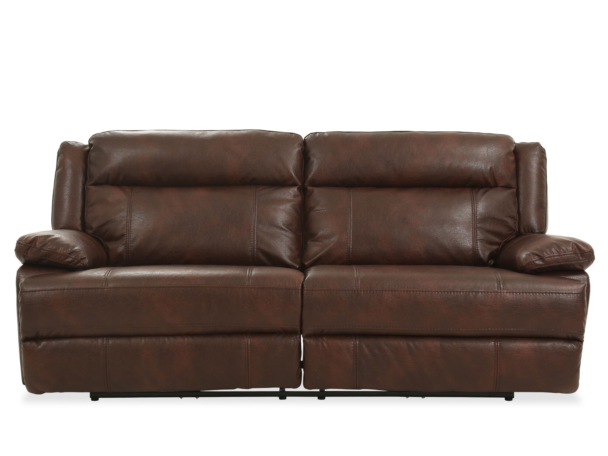 90 Quot Power Reclining Sofa In Brown Mathis Brothers Furniture