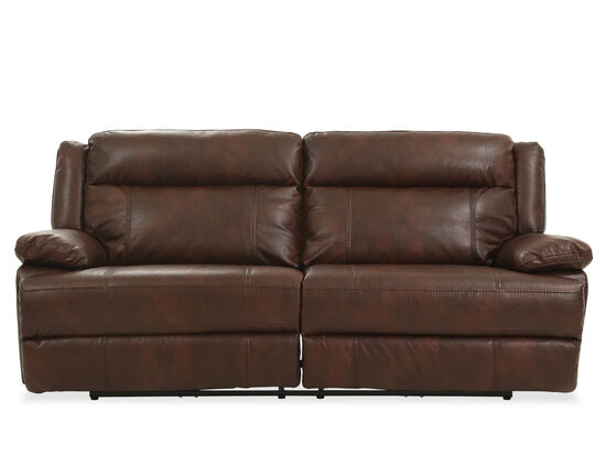 "Leather 90"" Power Reclining Sofa in Brown"