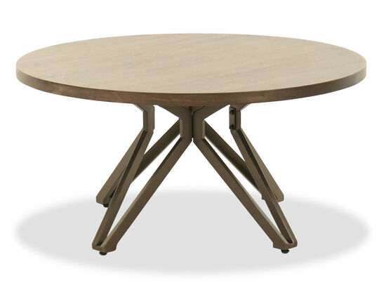 Round Coffee Table in Brown