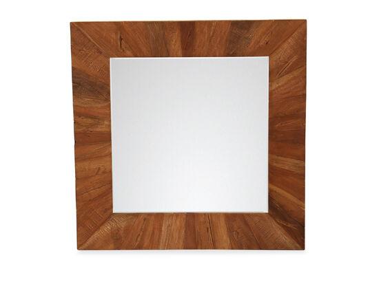 "40"" Casual Square Mirror in Brown"