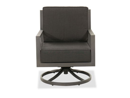 Aluminum Swivel Club Chair in Gray