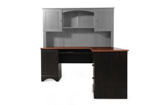 """67"""" Casual Corner Desk with Return in Espresso"""