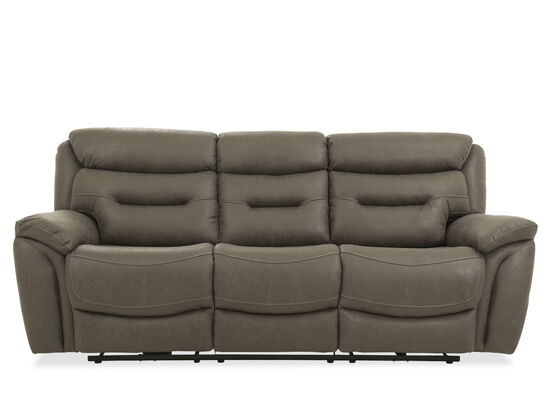 "Casual 90"" Power Reclining Sofa in Gray"
