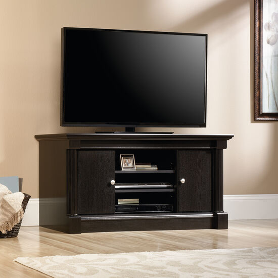 Two Door Contemporary TV Stand in Wind Oak