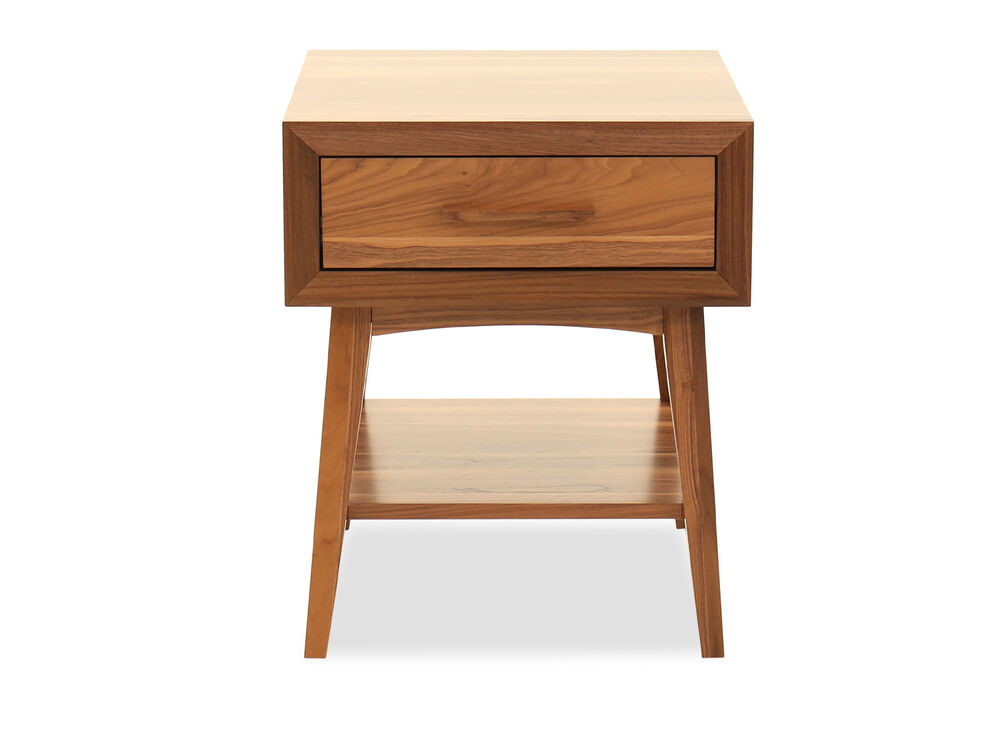 Modern One-Drawer End Table in Brown