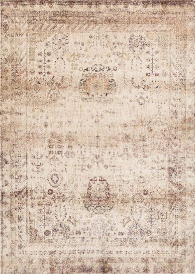 "Transitional 2'-7""x8'-0"" Rug in Ivory/Multi"