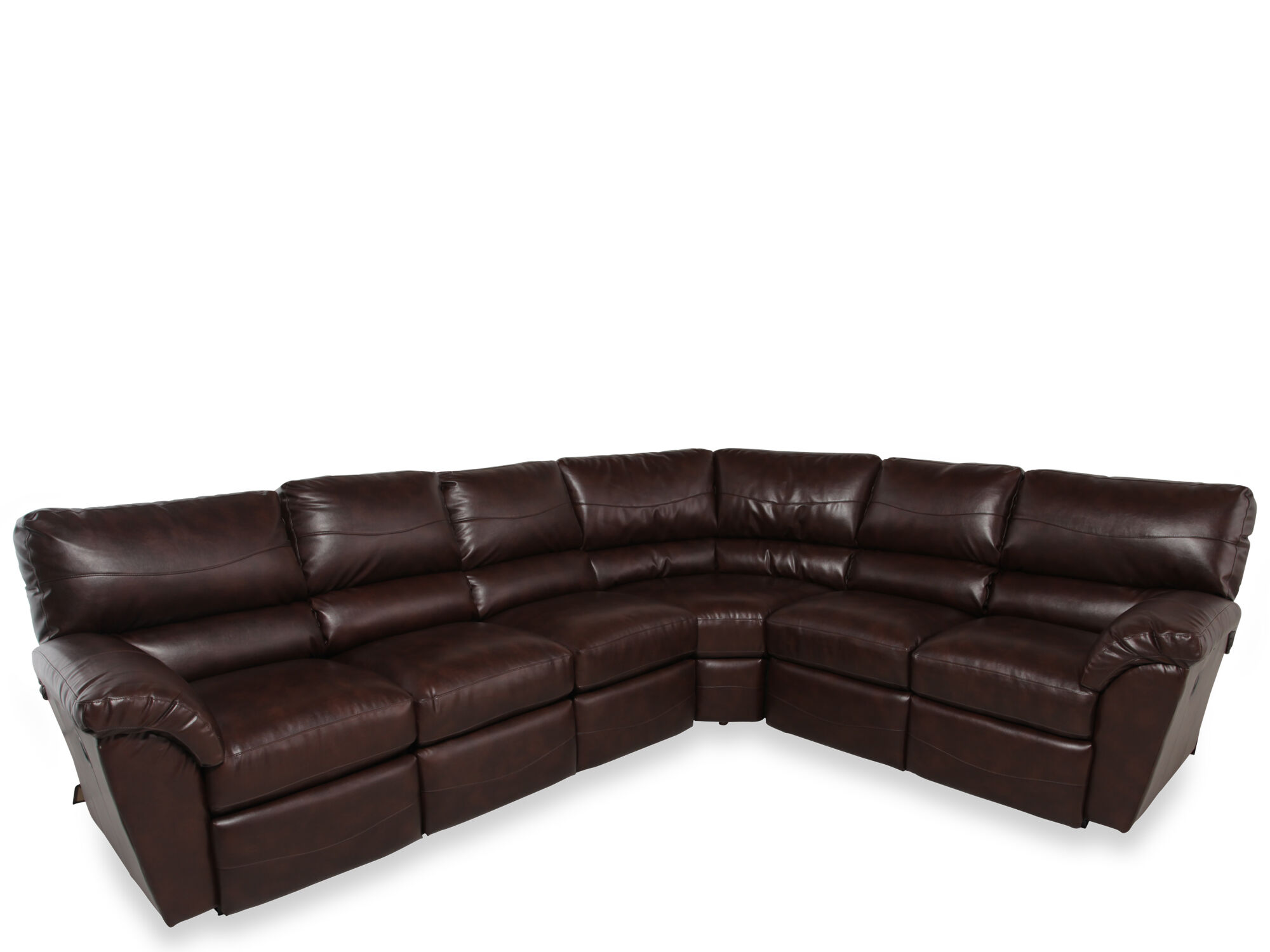 La-Z-Boy Reese Three-Piece Dual Recliner Sectional  sc 1 st  Mathis Brothers : la z boy reese sectional - Sectionals, Sofas & Couches