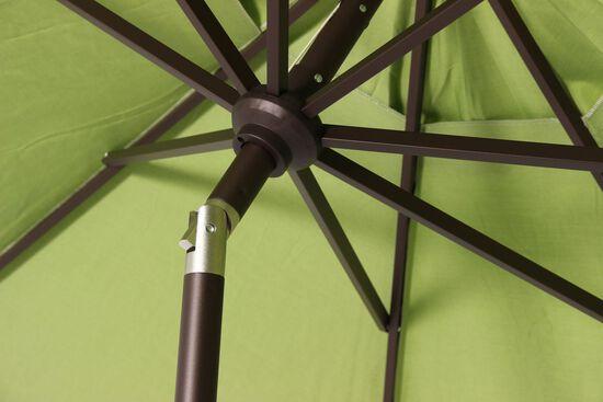 Contemporary Aluminum Auto Tilt Umbrellain Green