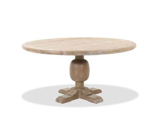 """Casual 60"""" Pedestal Dining Table in Brown"""