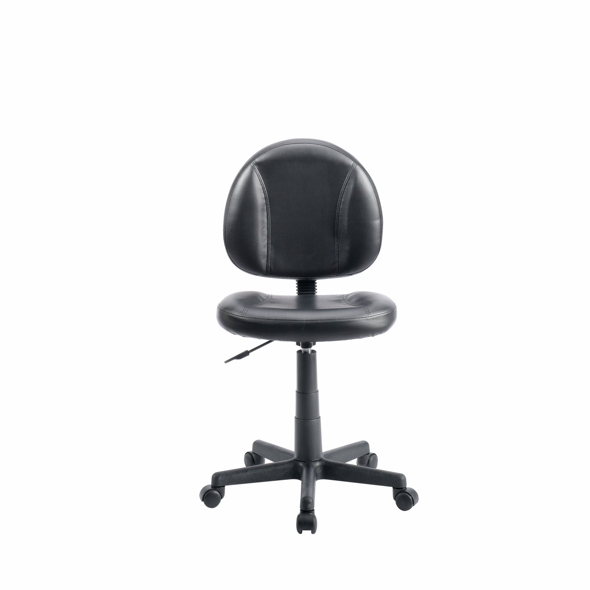 Armless Swivel Task Chair In Black Mathis Brothers Furniture