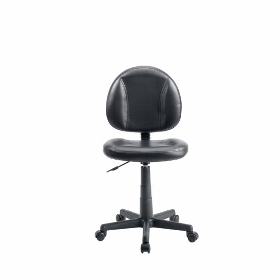 Armless Swivel Task Chair in Black
