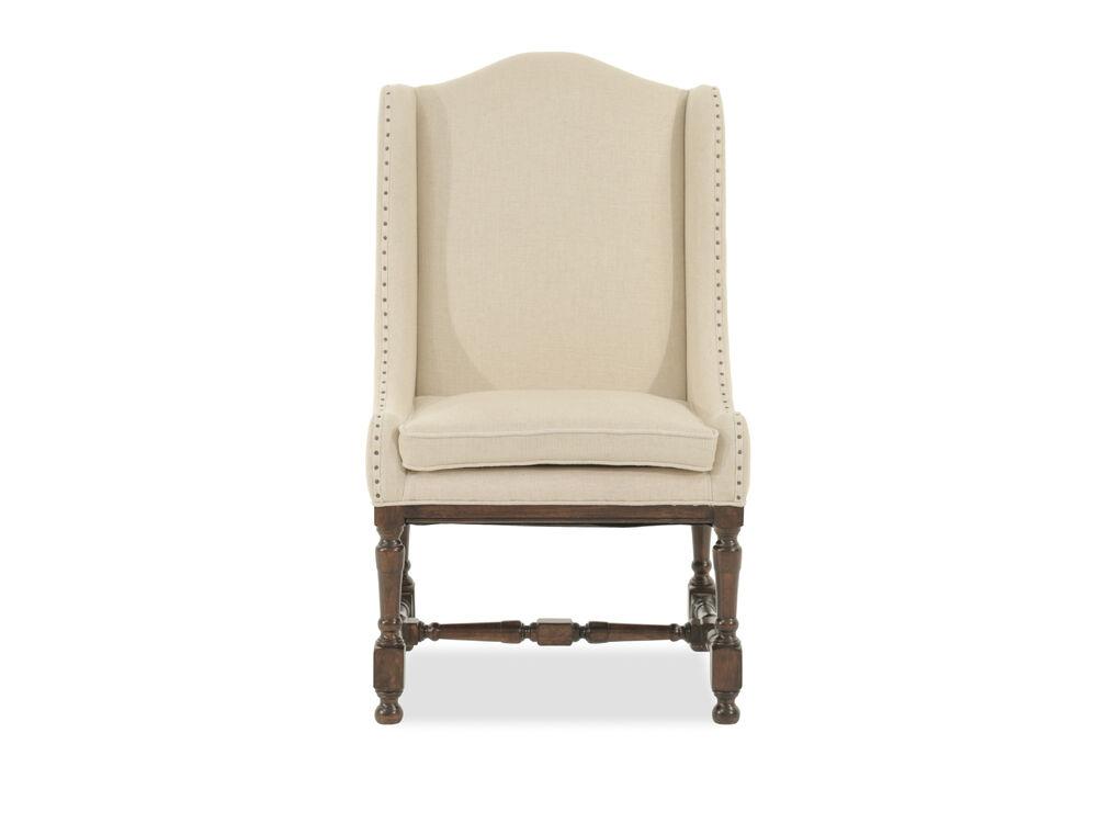 Two-Piece Wingback 43'' Host/Hostess Chair Set in Dark Cream