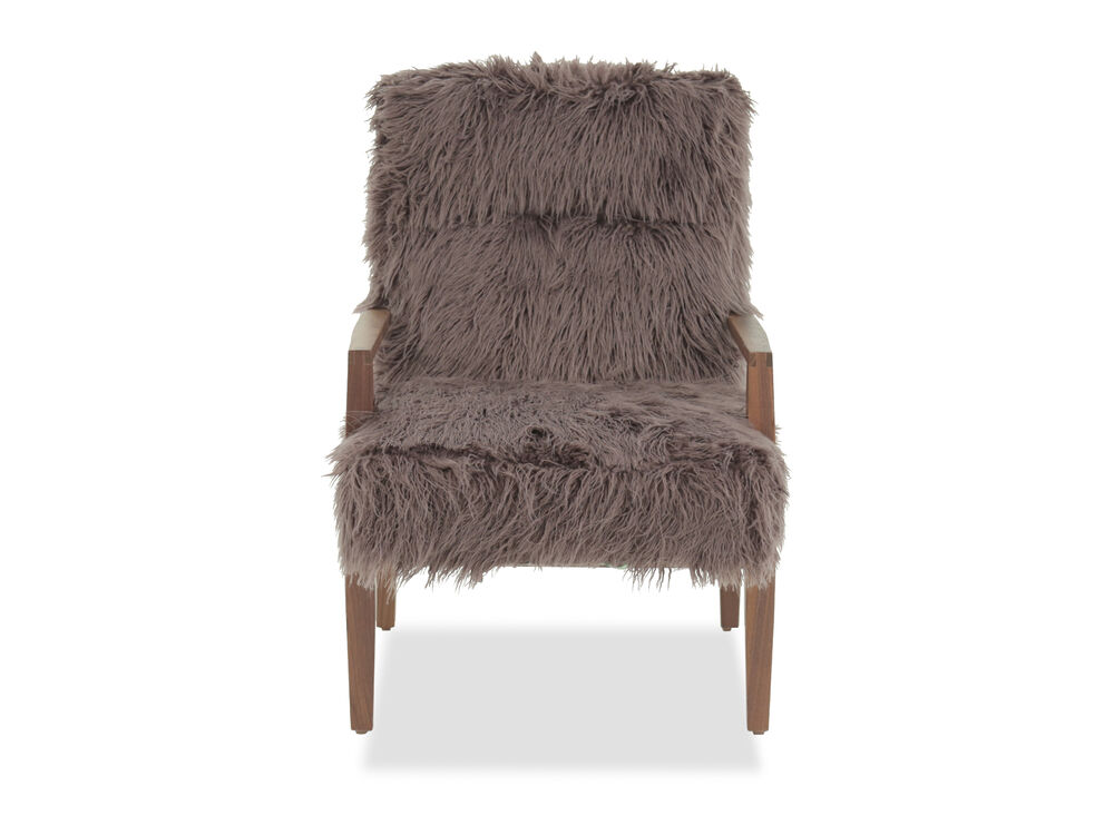 """Contemporary 25"""" Accent Chair in Charcoal"""