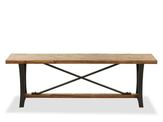 "52"" Country X-Bench in Brown"