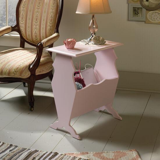 Contemporary Storage Side Tablein Pink