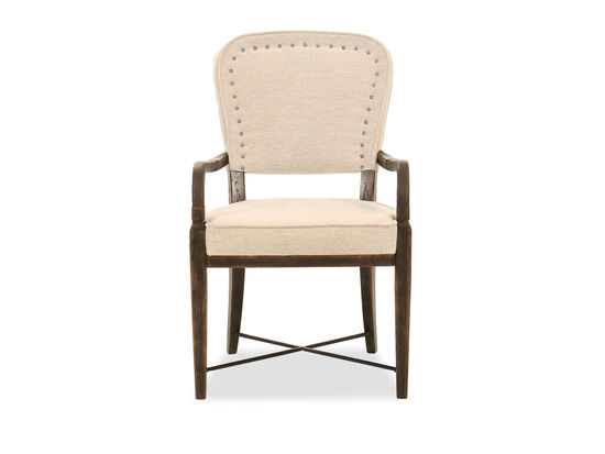 """37.5"""" Nailhead-Accented Arm Chair in Merit Dove"""