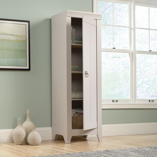 One-Door Traditional Narrow Cabinet in Cobblestone