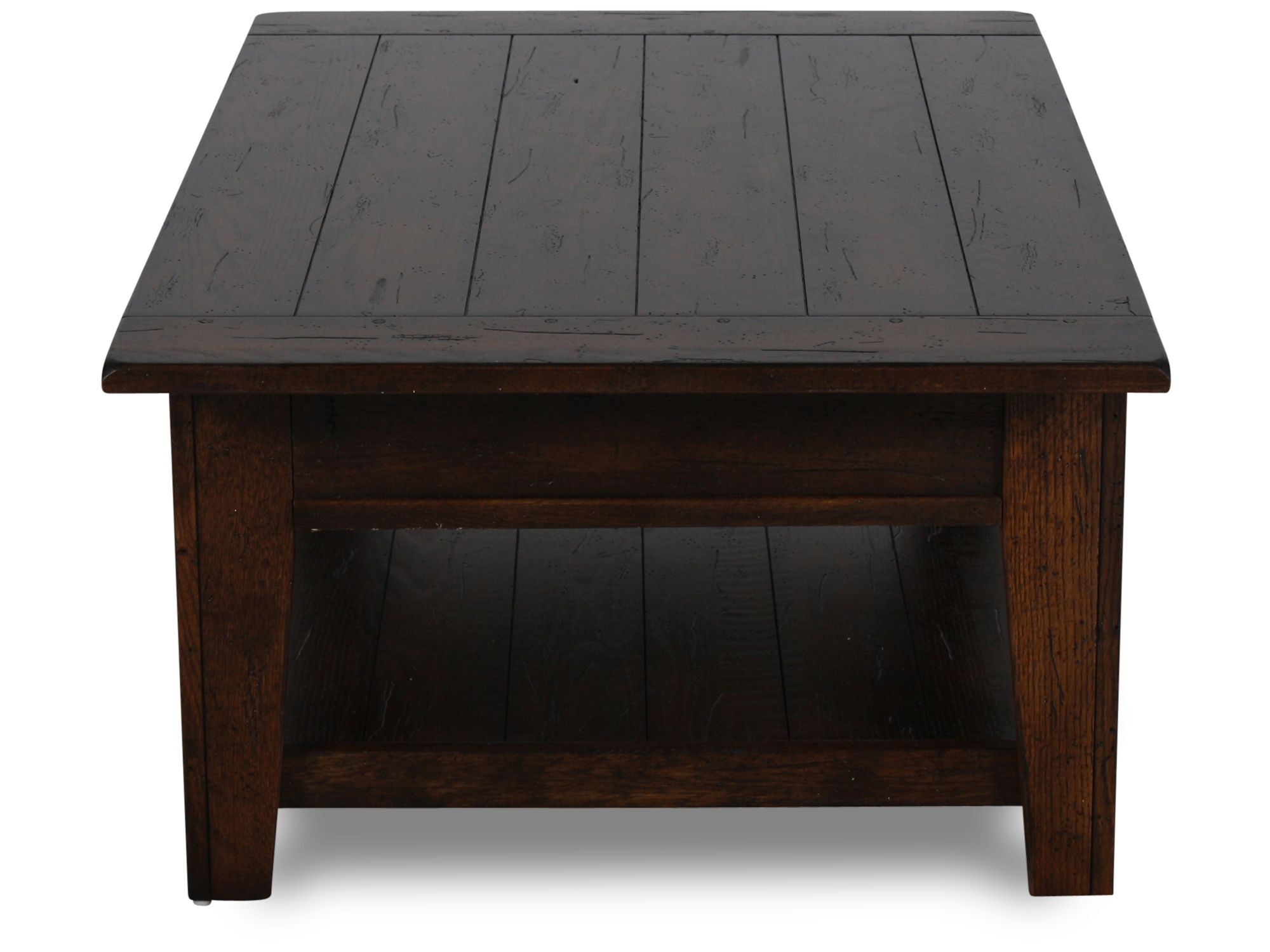 Merveilleux Two Drawer Solid Wood Cocktail Tableu0026nbsp;in Rustic Oak