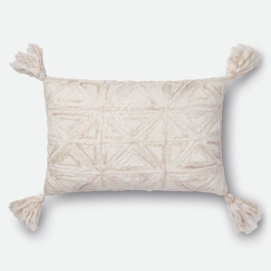 """Contemporary 13""""x21"""" Cover w/down pillow in Natural"""