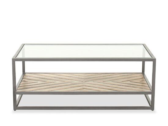 "48"" Rectangular Casual Cocktail Table in Medium Wood"