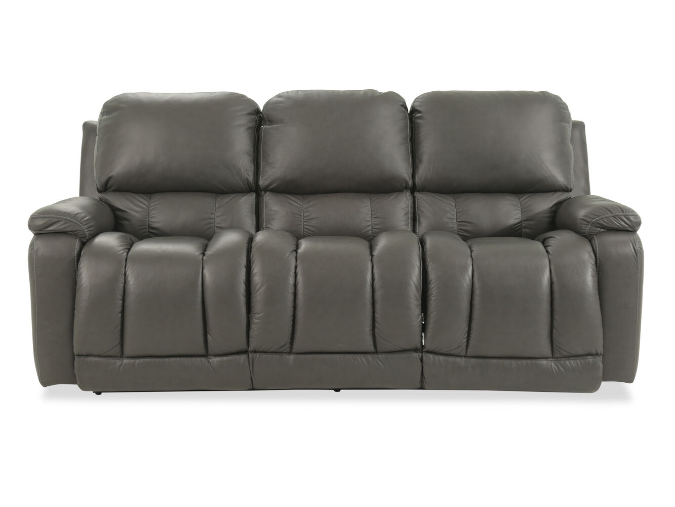 casual 85 power reclining sofa in gray mathis brothers furniture. Black Bedroom Furniture Sets. Home Design Ideas
