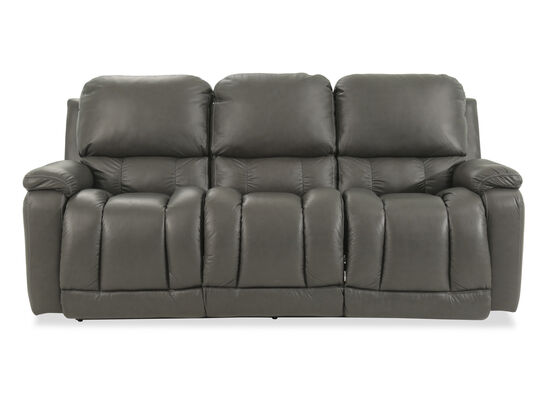 "Casual 85"" Power Reclining Sofa in Gray"
