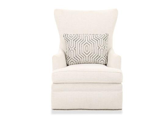 """31"""" Transitional Nailhead Trim Swivel Chair in Cream"""
