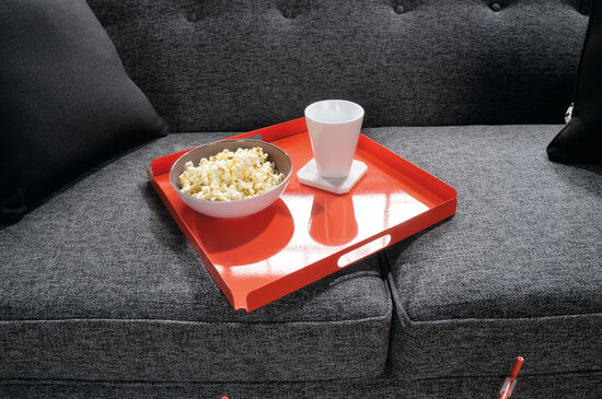 X-Base Contemporary Tray Table in Orange Blush
