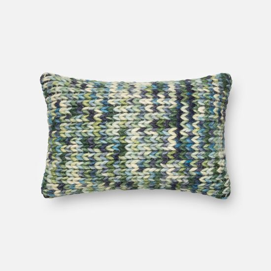 "13""x21"" Pillow Cover Only in Green/Blue"