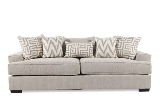 "Contemporary Textured 101"" Sofa in Cream"