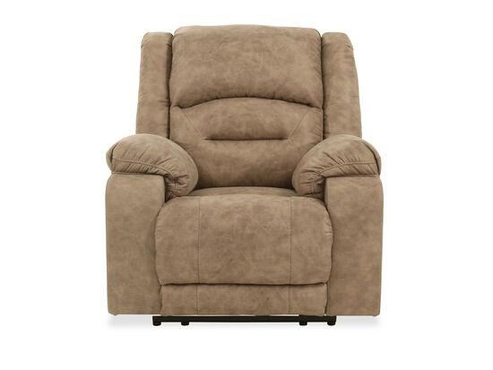 Contemporary Adjustable Headrest 42'' Power Recliner in Graystone
