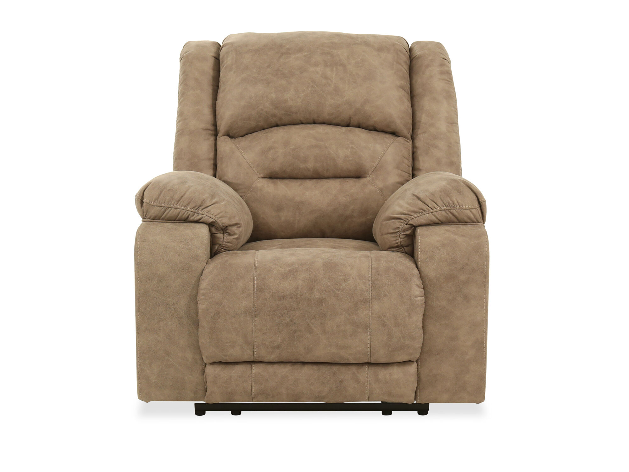 Contemporary Adjustable Headrest 42u0027u0027 Power Recliner In Graystone | Mathis  Brothers Furniture