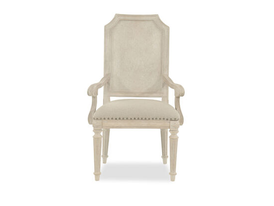 43'' Scrolled Arm Chair in Beige