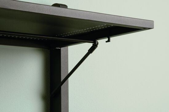 Contemporary Folding Anywhere Shelf in Black
