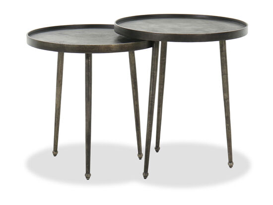 Casual Benching End Tables in Black Nickel