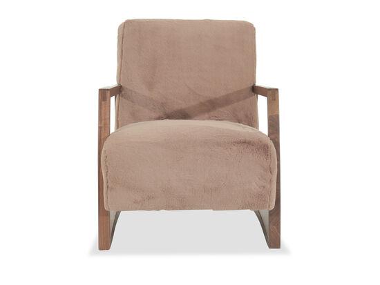 "Mid-Century Modern 28"" Chair in Brown"