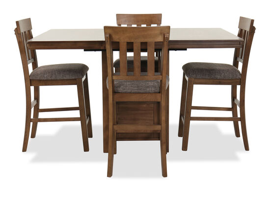 Five-Piece Casual Dining Set in Dark Brown
