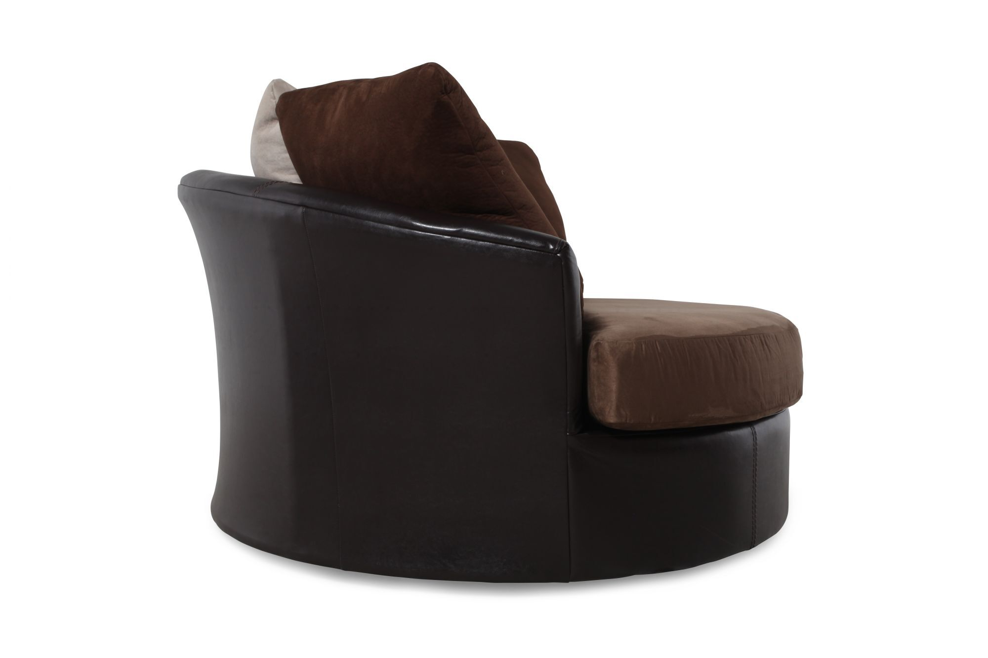 Round Microfiber 58u0026quot; Swivel Chair ...