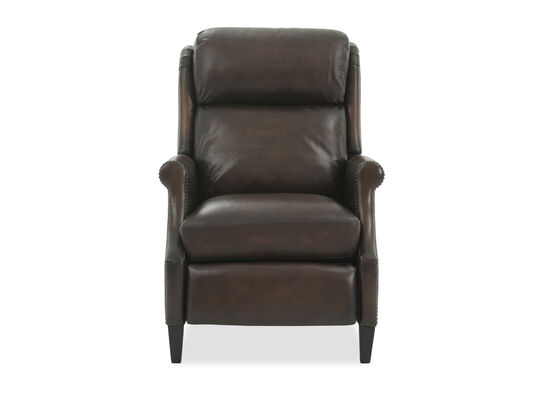 "Power Motion Leather 29.5"" Recliner in Brown"