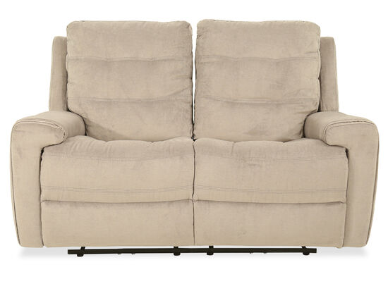 Casual Power Reclining Loveseat in Stone