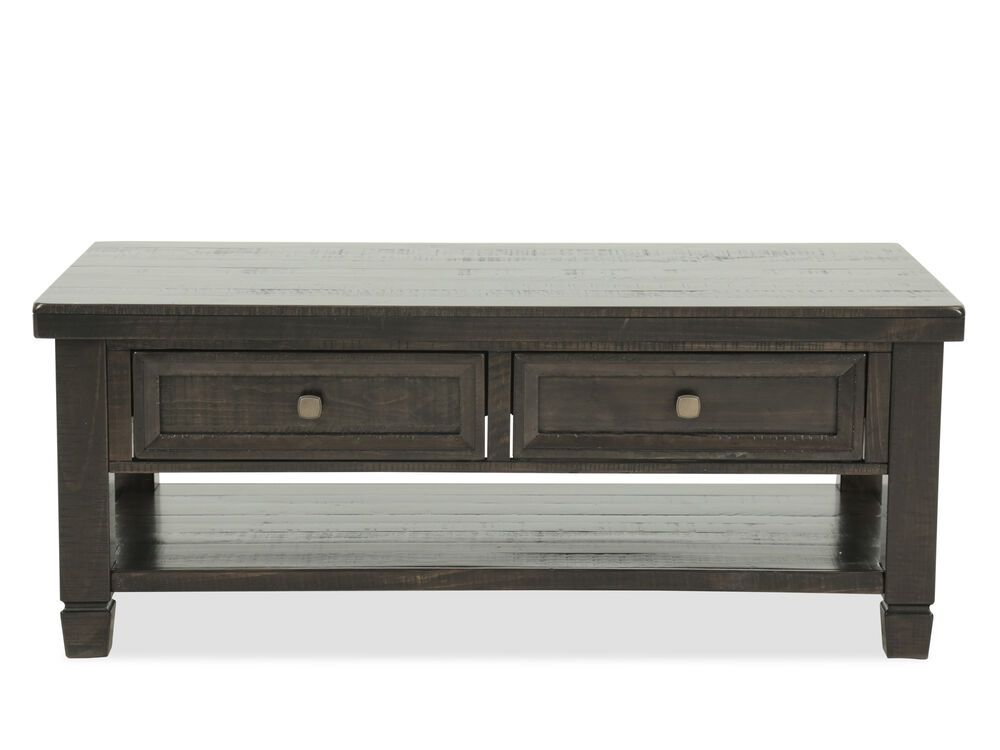 Two-Drawer Traditional Cocktail Tablein Dark Brown