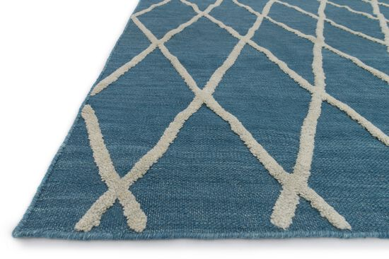 "Transitional 7'-9""x9'-9"" Rug in Azure"