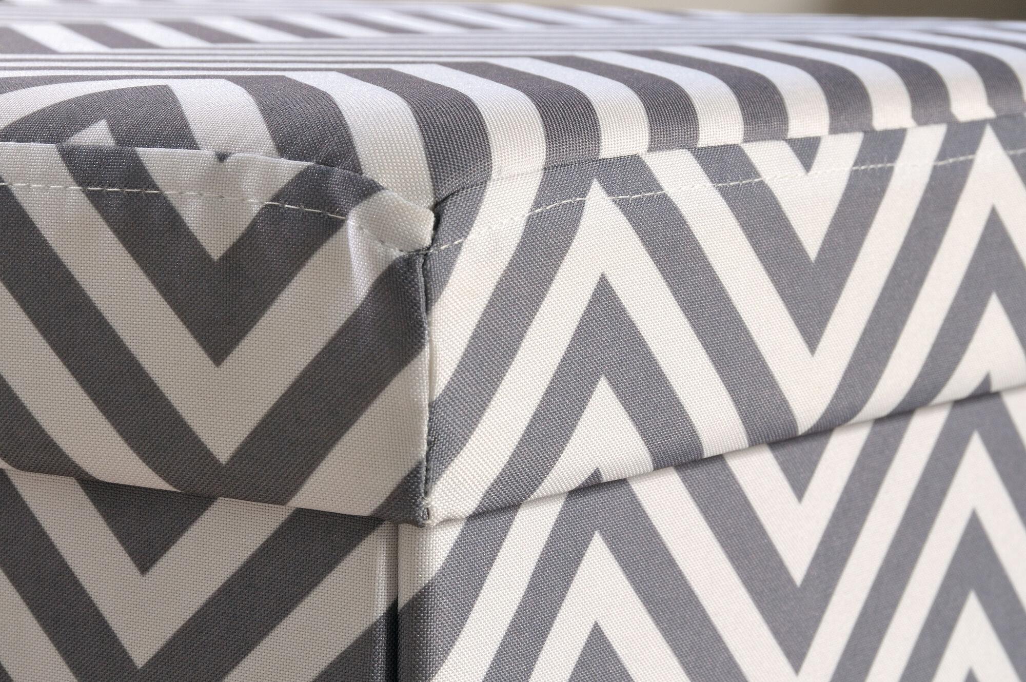 "innovative living rooms chevron patterns | Chevron Pattern Traditional 15"" Storage Ottoman | Mathis ..."