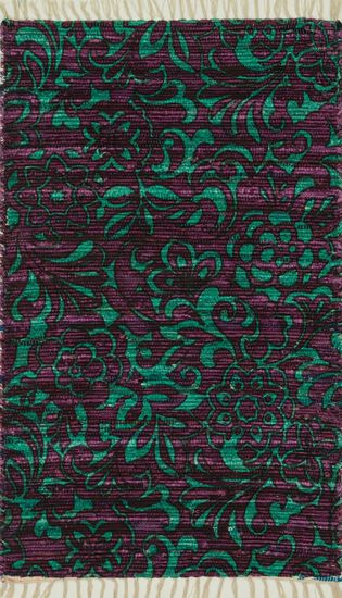 "Transitional 1'-8""x3' Rug in Purple/Turquoise"